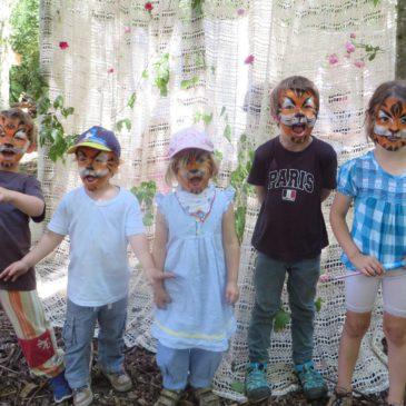 Märchenhaftes Geburtstagswetter für den Waldkindergarten Michelbach